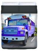 Outer Banks University Bus 1 Duvet Cover
