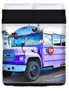 Outer Banks University Bus 2 Duvet Cover