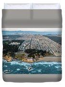 Outer Richmond San Francisco Aerial Duvet Cover