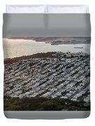 Outer Richmond San Francisco Aerialouter Richmond San Francisco Aerial Duvet Cover