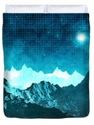 Outer Space Mountains Duvet Cover