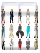 Outfits Of Bowie Duvet Cover