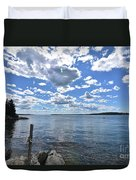 Outhaul On An Island In Casco Bay Maine  Duvet Cover