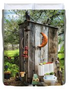 Outhouse In The Garden Duvet Cover