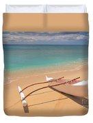 Outrigger On Beach Duvet Cover