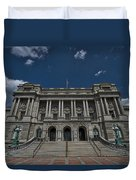 Outside The Library Of Congress Duvet Cover