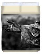 Outstreched Hand B-w Duvet Cover