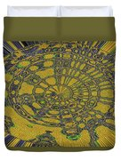 Oval Abstract Maple Leaf  Duvet Cover