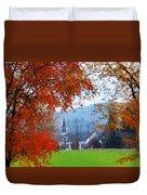Oval United Methodist Church Duvet Cover