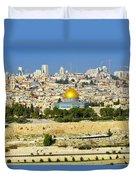 Over Jerusalem Duvet Cover