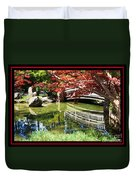 Over Springtime Pond Duvet Cover
