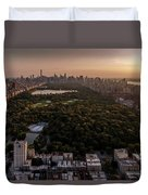 Over The City Central Park Duvet Cover