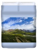 Over The Glaciers Duvet Cover