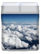 Over The Heavenly Clouds Duvet Cover