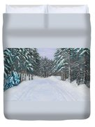 Snow Tracks Duvet Cover
