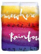Over The Rainbow Duvet Cover