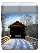 Over The River And Through The Bridge Duvet Cover