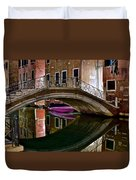 Over The River And Through The Buildings Duvet Cover