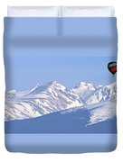 Over The Rockies Duvet Cover