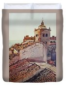 Over The Rooftops, Caceres Duvet Cover