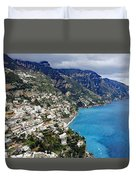 Overall View Of Part Of The Amalfi Coast In Italy Duvet Cover