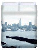 Overcast City Duvet Cover