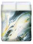 Overcast Sea Abstract Duvet Cover