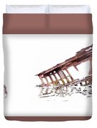 Overexposed Peter Iredale Duvet Cover