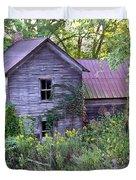 Overgrown Abandoned 1800 Farm House Duvet Cover