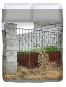 Overgrown Rusted Gate Duvet Cover