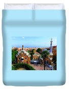 Overlooking Barcelona From Park Guell Duvet Cover