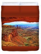 Overlooking Canyonlands National Park    Moab Utah Duvet Cover