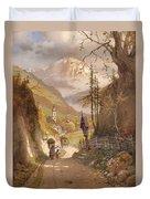 Overlooking Ramsau Bei Berchtesgaden Duvet Cover