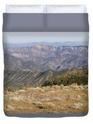 Overlooking Santa Paula Canyon Duvet Cover