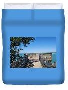 Overlooking Sarasota Bay Duvet Cover