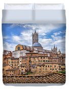 Overlooking Siena And The Duomo Duvet Cover