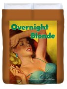 Overnight Blonde Duvet Cover