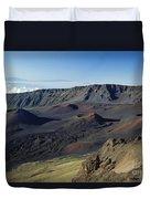 Overview Of Haleakala Cra Duvet Cover