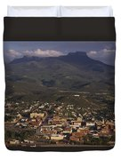 Overview Of Town Of Trinidad Duvet Cover