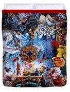 Owatonna Art Center Mural Duvet Cover by Lynette Yencho