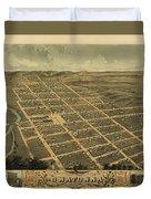 Owatonna, Minnesota 1870 Duvet Cover
