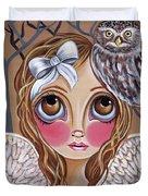 Owl Angel Duvet Cover