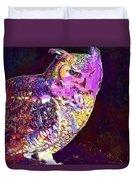 Owl Bird White Raptor  Duvet Cover