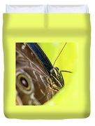 Owl Butterfly In Yellow Flower Duvet Cover