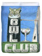 Owl Club Duvet Cover
