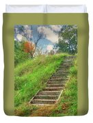 Owl Creek Mound  Duvet Cover