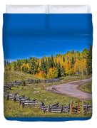 Owl Creek Pass Road Duvet Cover