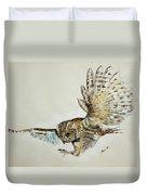 Owl In Flight Duvet Cover
