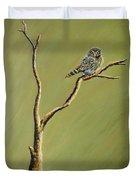 Owl On A Branch Duvet Cover