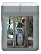 Owl On Deck Duvet Cover